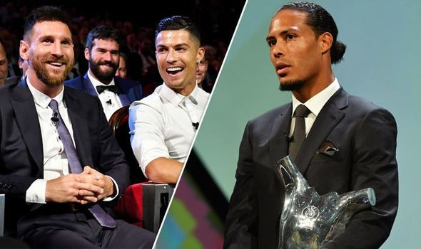 Van Dijk Mengalahkan Messi dan Ronaldo Sebagai Pemain Terbaik UEFA